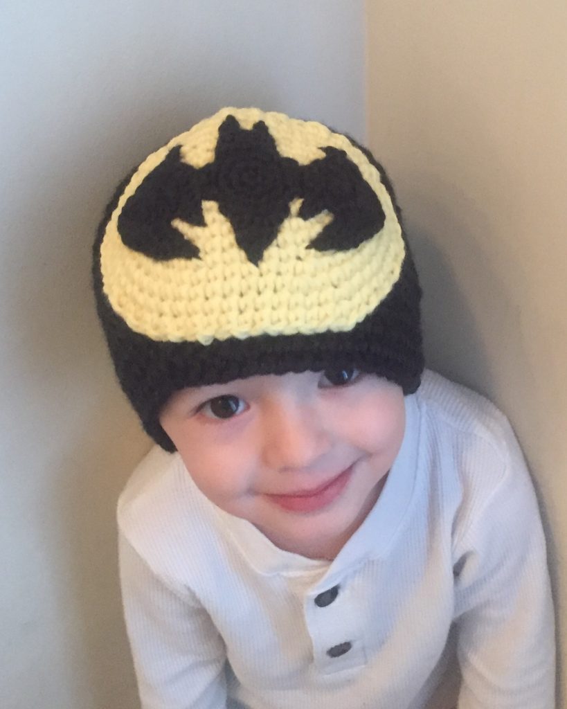 Batman applique crochet pattern